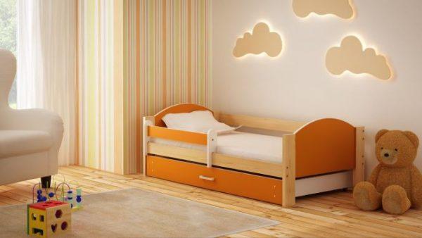 otroška postelja bartek oranžna