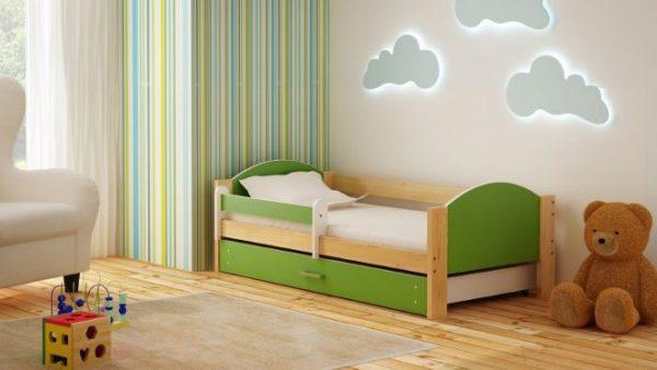 otroška postelja bartek zelena
