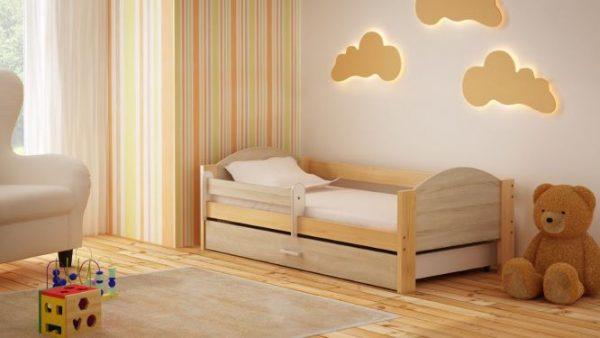 otroška postelja bartek hrast