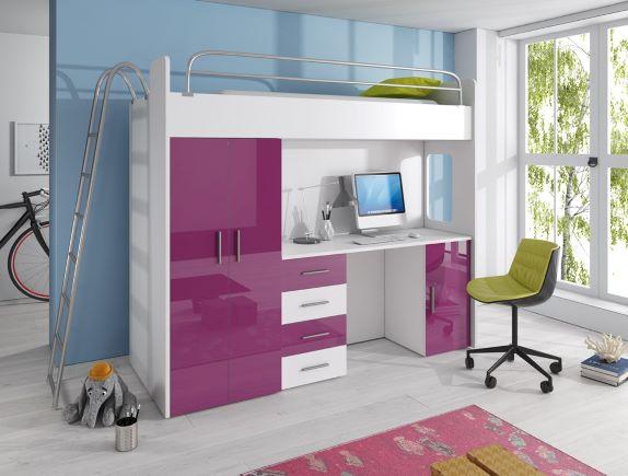 postelja-s-pisalno mizo in omaro Raj 4