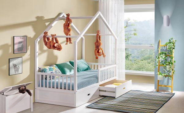 postelja hiška 200x90 dr