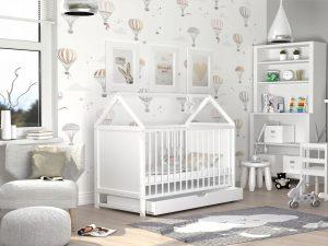 Otroška posteljica hiška 120x60 Ania