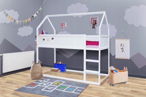 visoka postelja hiška 200x90