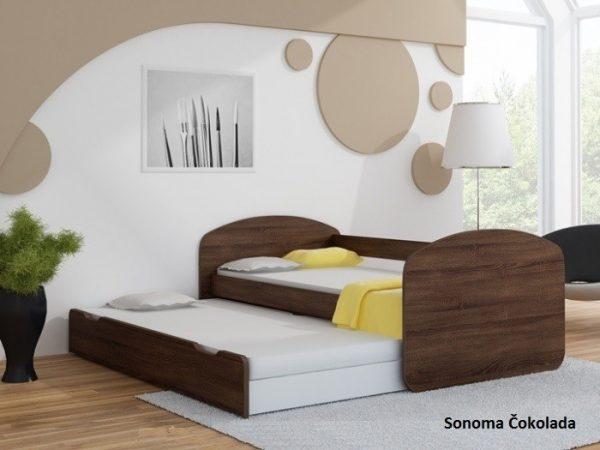 Postelja za dva otroka Sonoma Čokolada