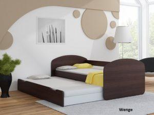 Postelja za dva otroka Wenge