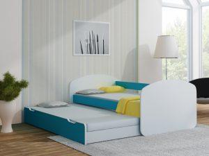Postelja za dva otroka Svetlo modra