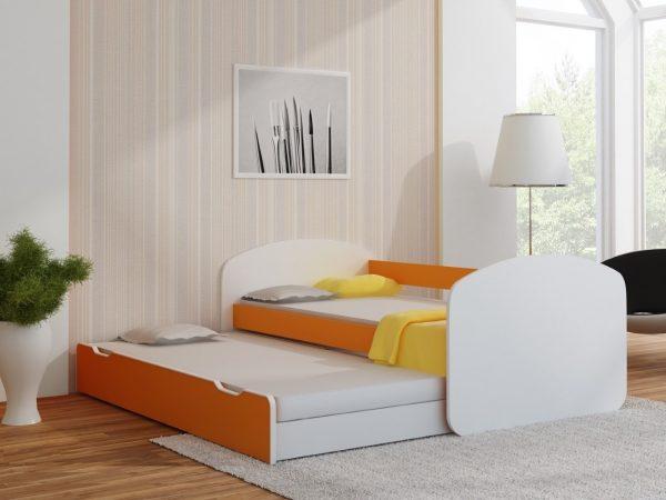 Postelja za dva otroka Oranžna