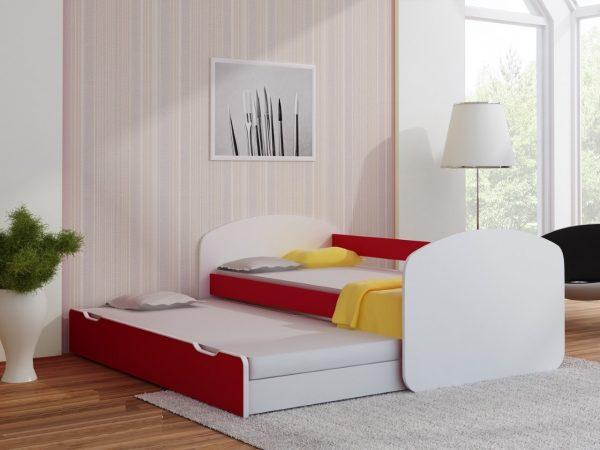 Postelja za dva otroka Rdeča