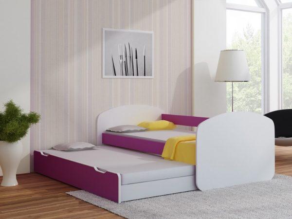 Postelja za dva otroka Vijolična
