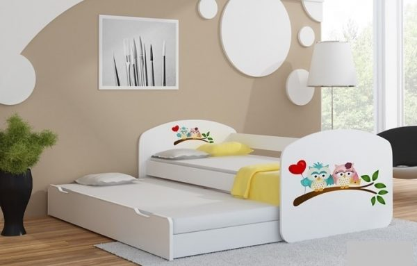 Postelja za dva otroka Sovice