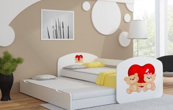 Postelja za dva otroka Dva medvedka