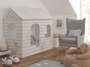 Postelja hiška Pooh