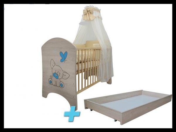 """Soba za dojenčke Standard """"Vgravirana Čivava"""" modra"""