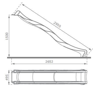 Vodni tobogan REX -drča 3m