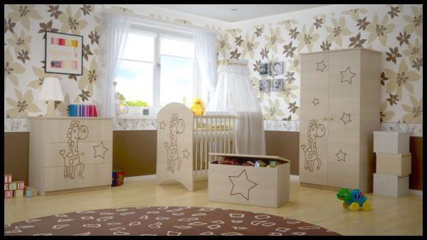 "Soba za dojenčke Standard ""Vgravirana Žirafa"" natur"