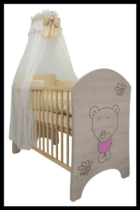 """Soba za dojenčke Standard """"Vgraviran Medvedek"""" roza"""