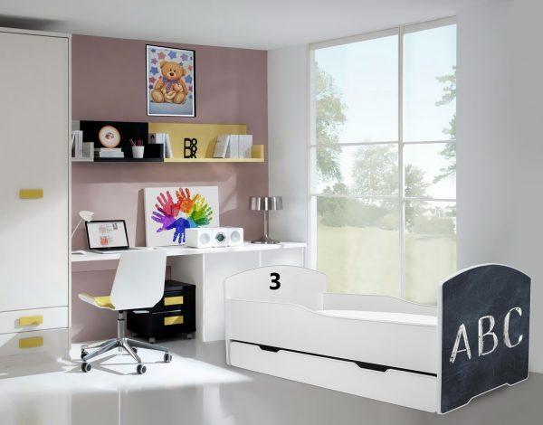 Postelje z tablo za risanje