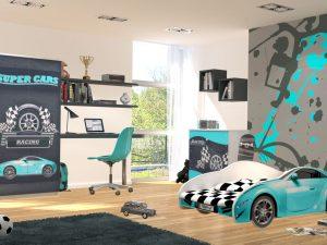 """Otroška soba """"moder"""" AVTO S_CAR 150x75"""