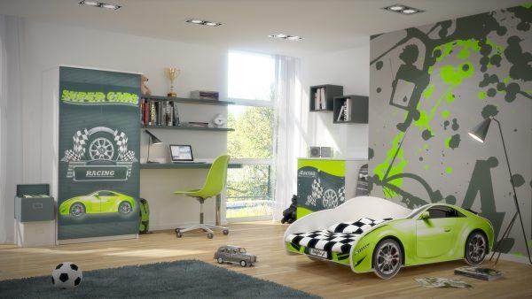 """Otroška soba """"zelen"""" AVTO S_CAR 150x75"""