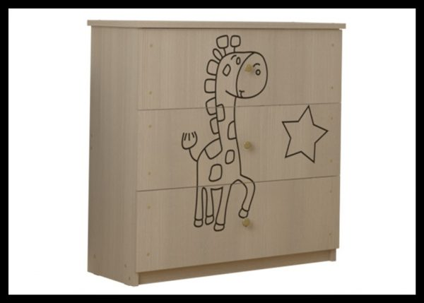 "Otroška soba Oskar ""Vgravirana Žirafa"" natur"