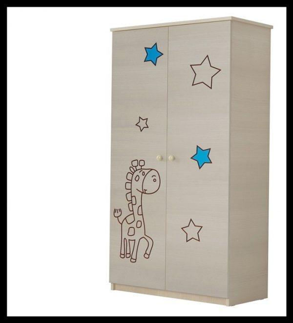 """Otroška soba Oskar """"Vgravirana Žirafa"""" modra"""