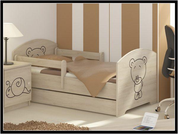 """Otroška soba Oskar """"Vgraviran Medvedek"""" natur"""