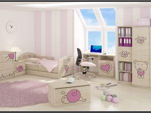 """Otroška soba Oskar """"Vgraviran Medvedek"""" roza"""