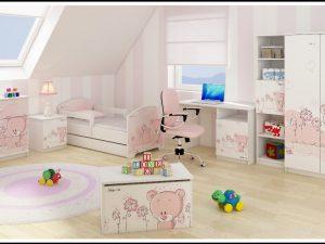 "Otroška soba Oskar ""Roza Medvedek"""